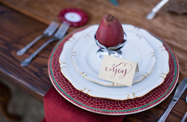 груши как декор свадьбы