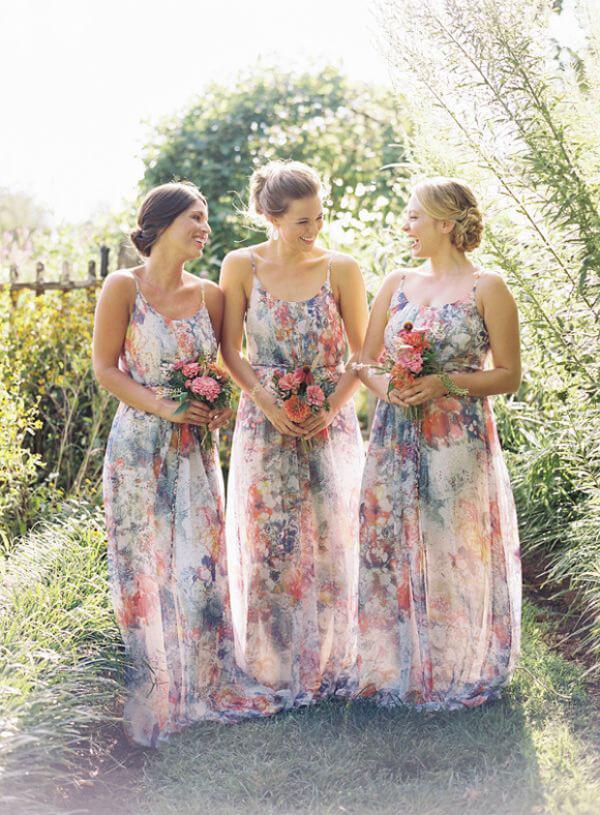цветочный принт на свадьбе