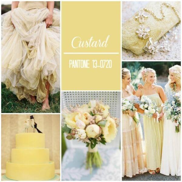 свадьба в бледном желтом