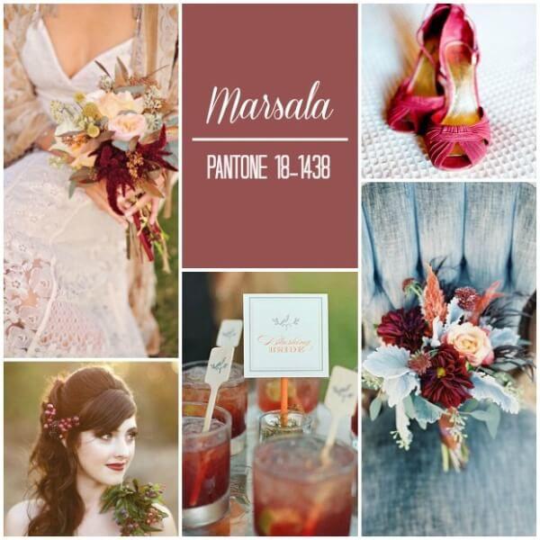цвет марсала свадьба