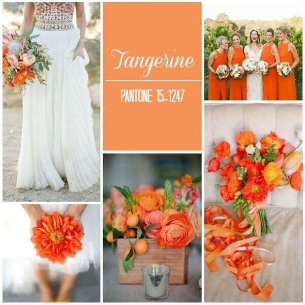 яркий оранжевый свадьба