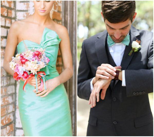 свадьба в мятном стиле