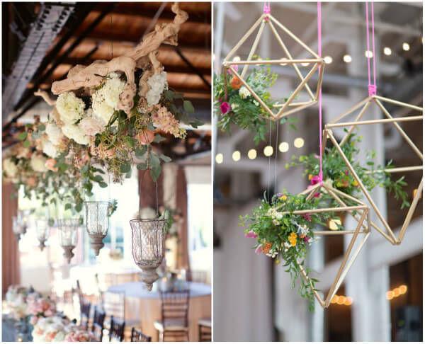 подвесной декор цветы