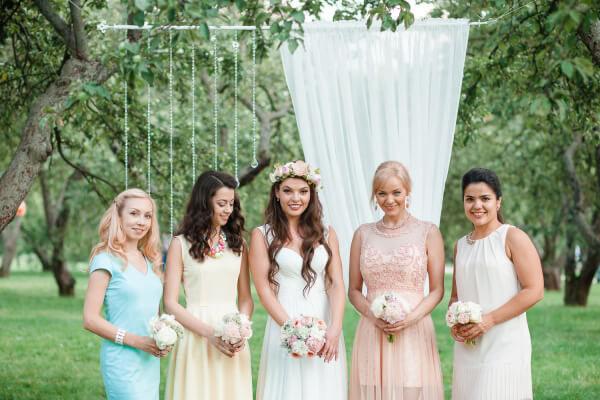 пастельные тона свадьбы