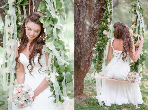 декор качелей на свадьбе