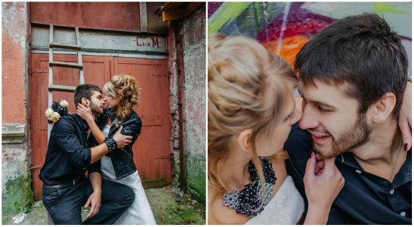 рок свадьба фото