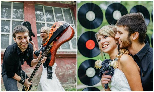 свадьба в стиле рок фото