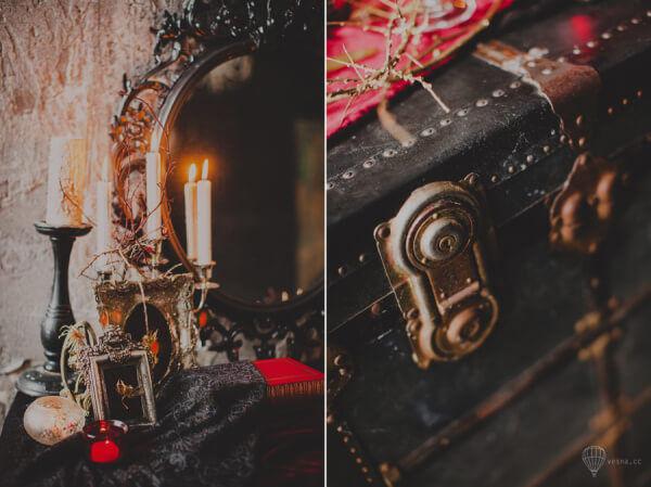 Свадьба в готическом стиле декор