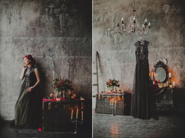 Невеста в готическом стиле