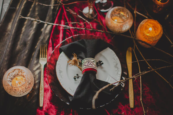 Свадьба в готическом стиле детали