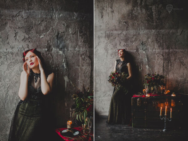 образ невесты в готическом стиле