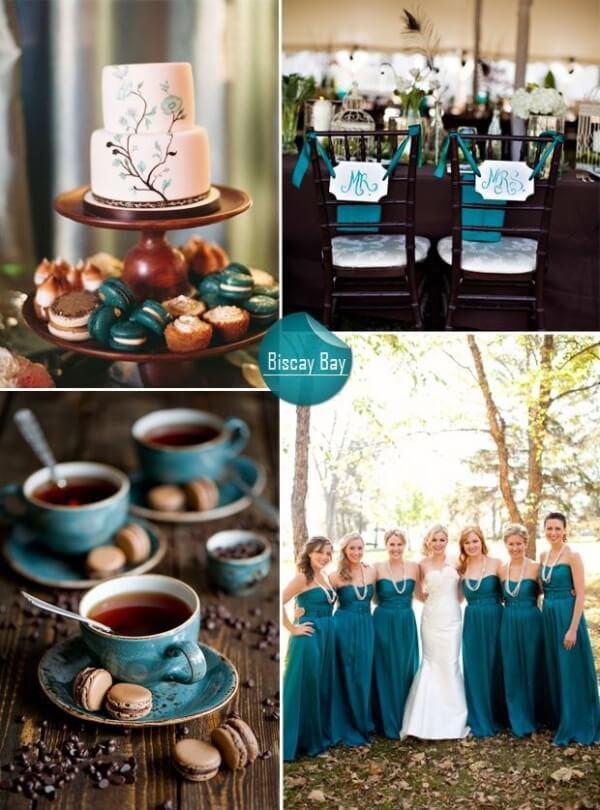 цвета свадьбы лето осень 2015