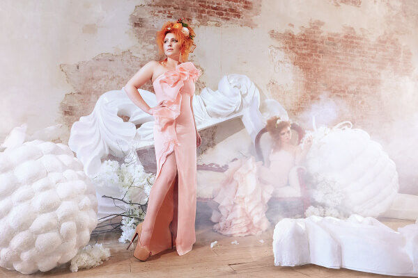 Авторская свадьба платье