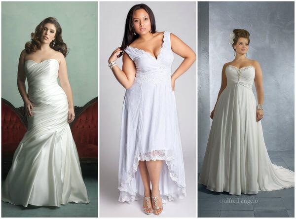 какое свадебное платье подойдет полным