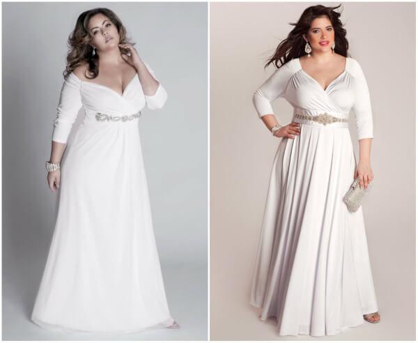 свадебные платья с рукавами для полных