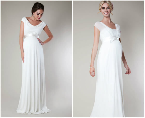 свадебные платья для беременных с рукавами