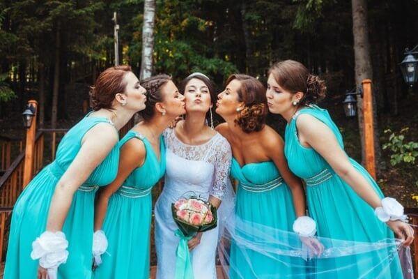 свадьба в цвете тиффани и белый