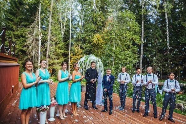 свадьба в стиле тиффани декор