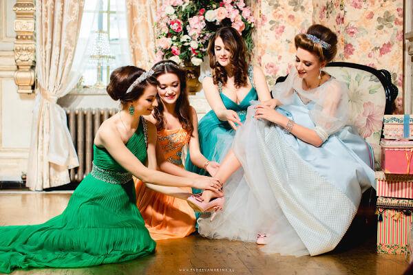 свадебное платье в стиле золушки