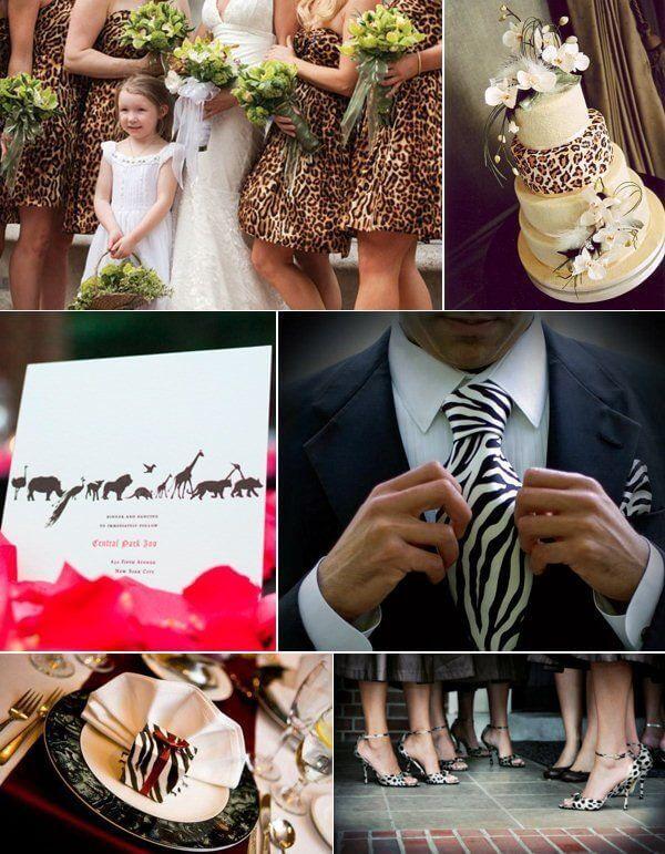 энимал принт на свадьбе