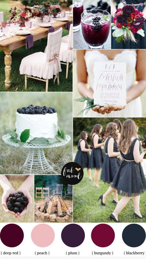 свадебный стиль марсала