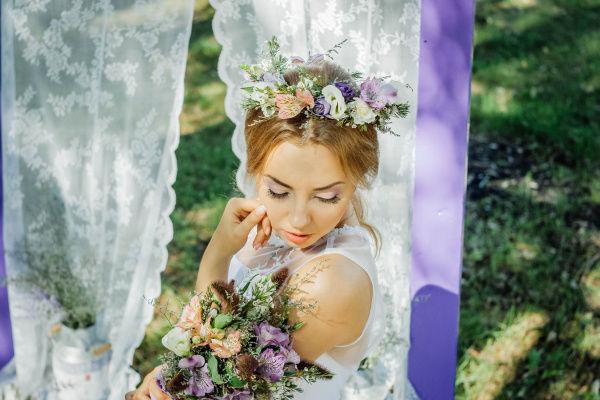 стиль свадьба прованс образ невесты