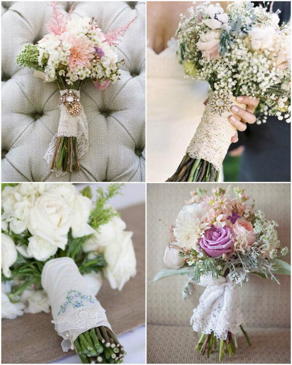 свадебный букет в винтажном стиле