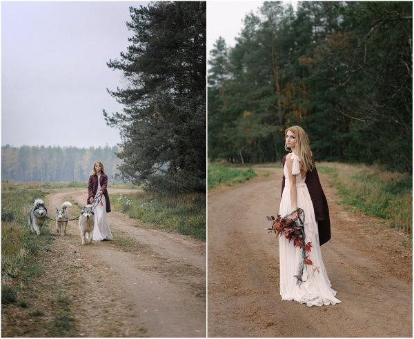 необычный свадебный образ невесты