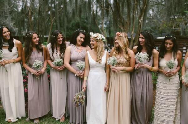 подружки невесты бохо