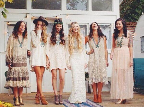 гости на свадьбе бохо