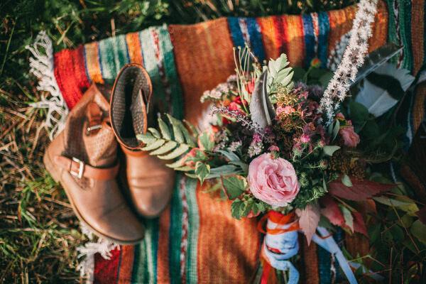 тема бохо на свадьбе