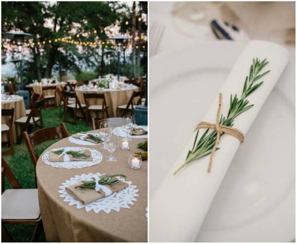 оформление столов на свадьбу своими руками