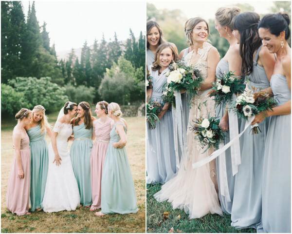 подружки невесты в стиле прованс