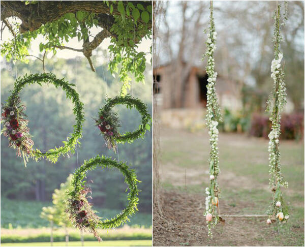 декор свадьбы бохо