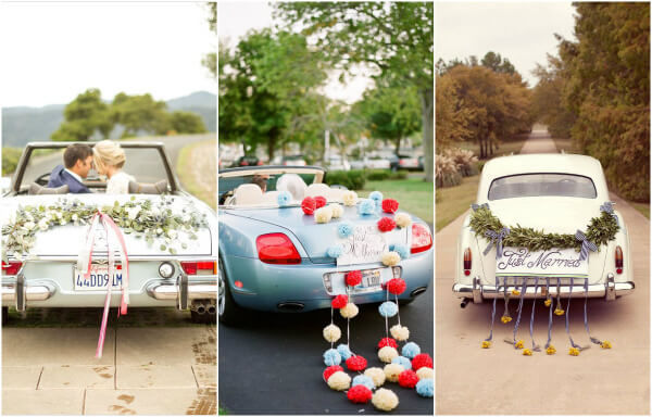 оформление машин на свадьбу своими руками фото