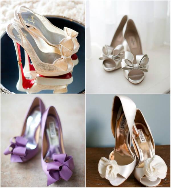 свадебные туфли с бантами