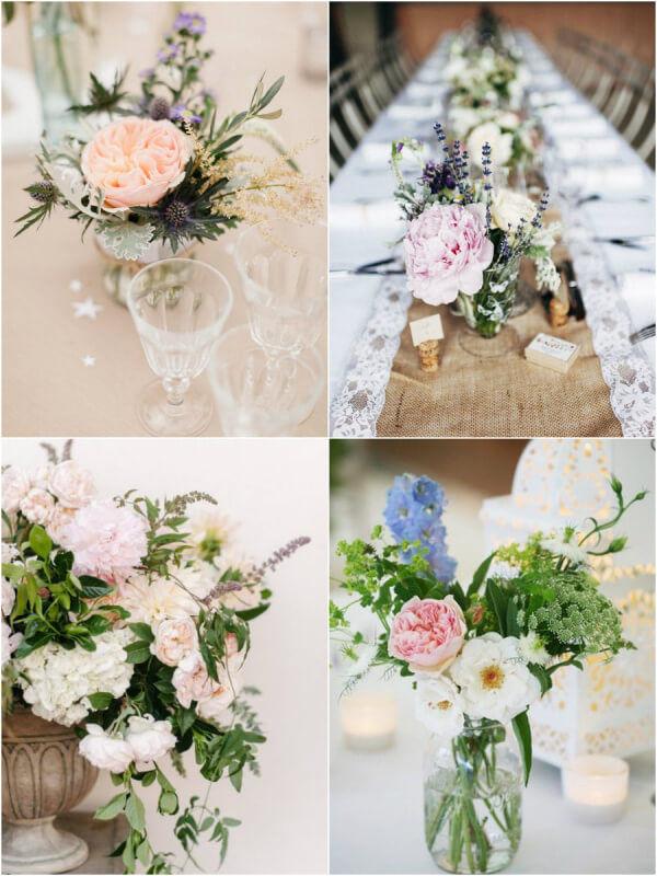 цветы на свадьбе прованс