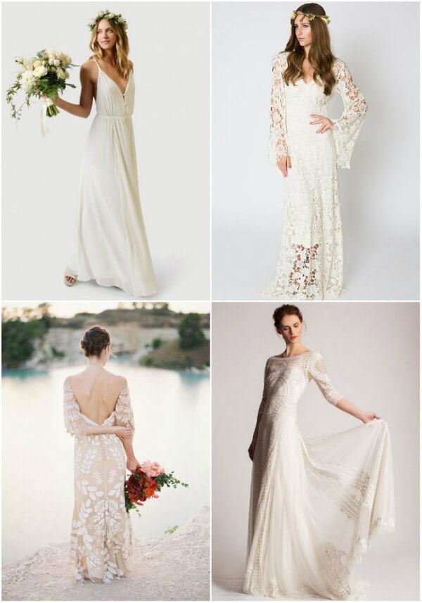 свадебные платья бохо фото