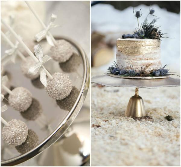 торт на свадьбу с блестками