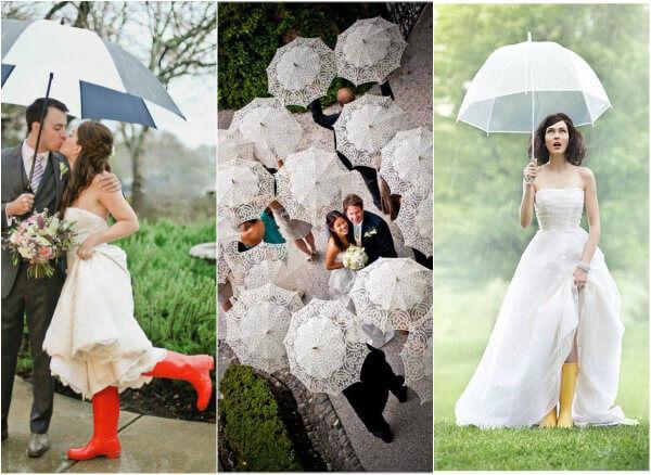 зонт на свадьбе