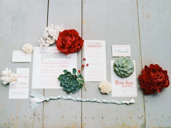 суккулент на свадьбе