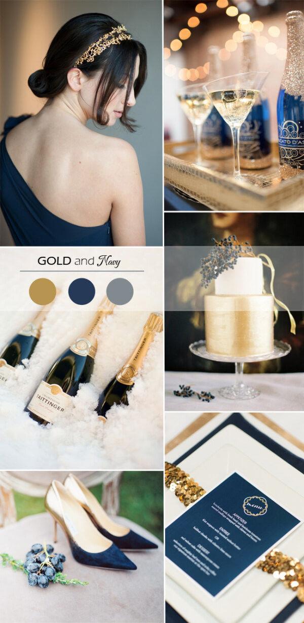 Золото и темно-синий