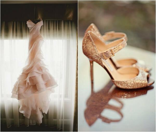 Свадьба в розово-золотом цвете