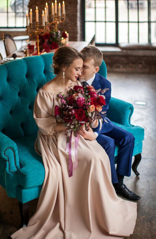 Свадьба в бордовых тонах