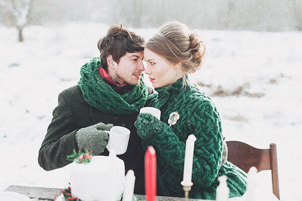 Красивая зимняя свадьба