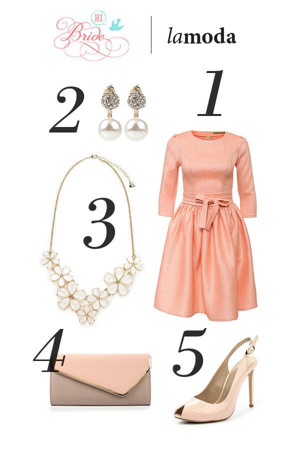 персиковый цвет платья