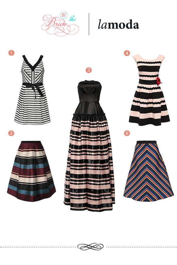 платья и юбки в полоску