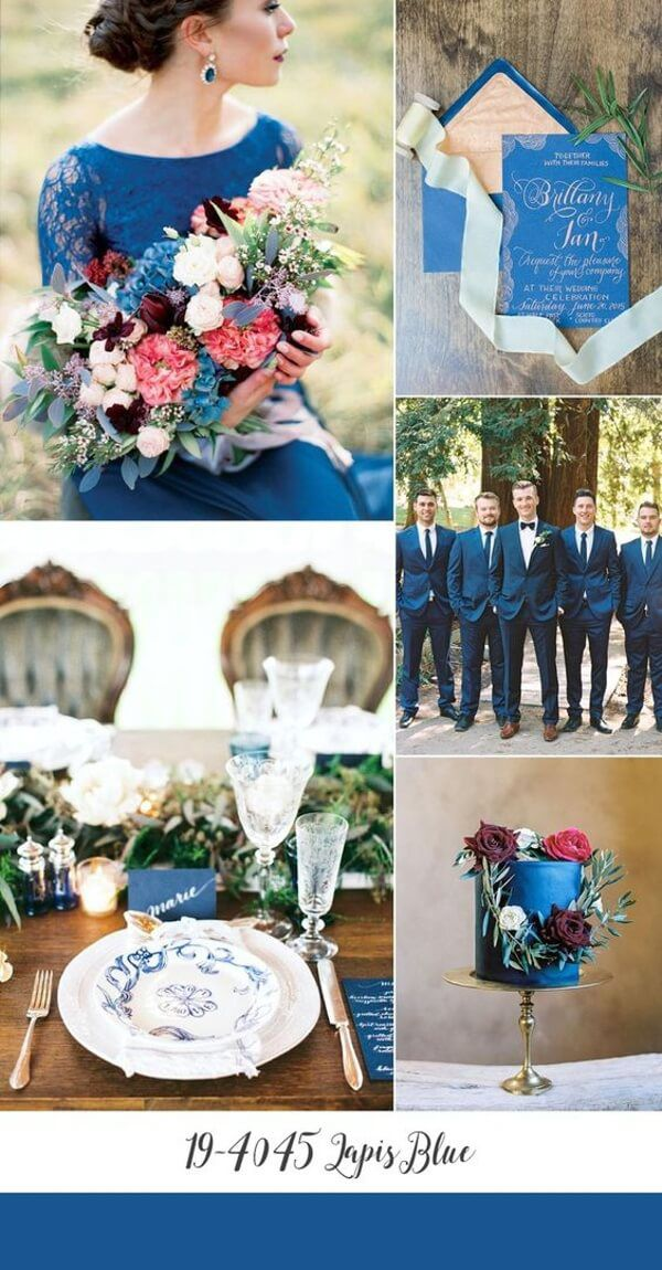 свадьба 2017 в цвете Lapis Blue (Синий Лазурит)