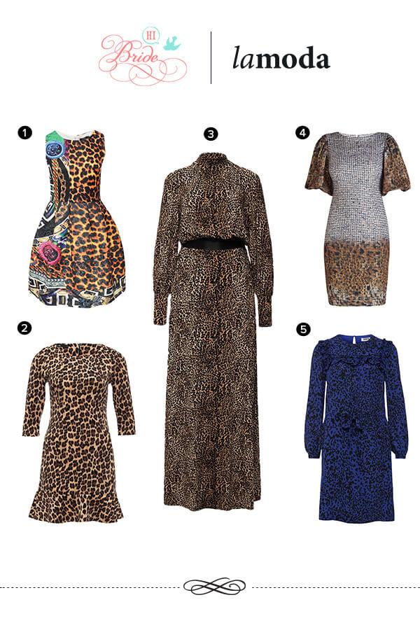 леопардовый принт платья