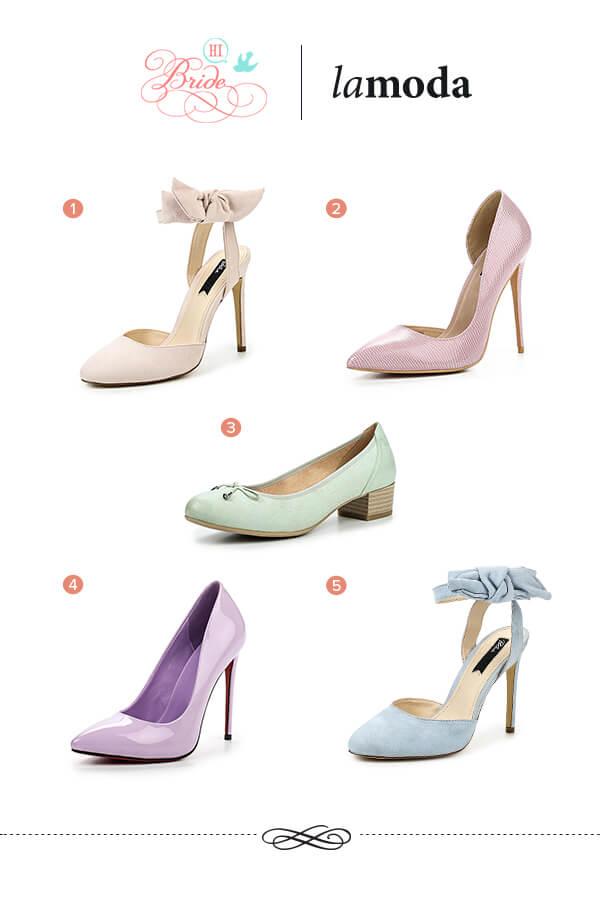 туфли в пастельных тонах